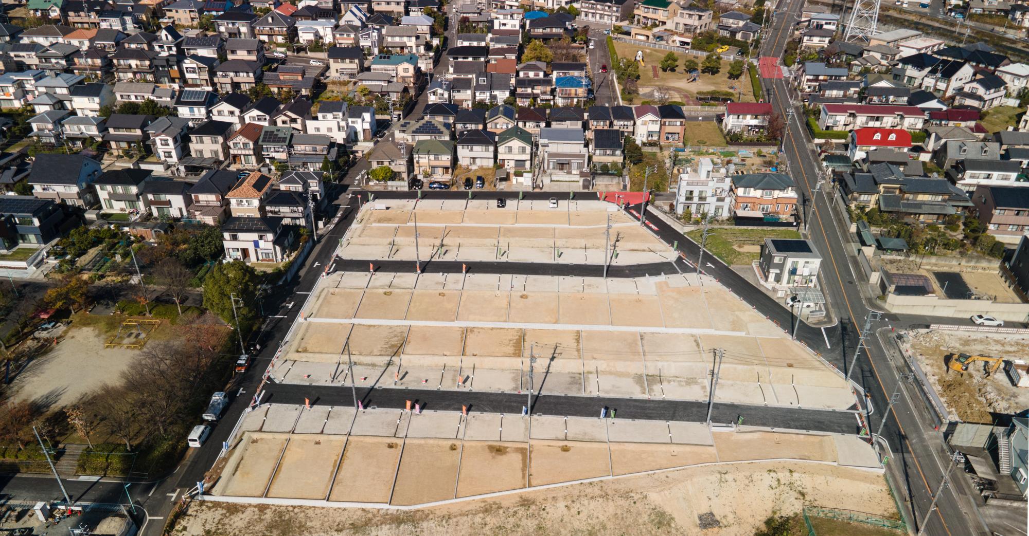 これから新しく生まれる37区画の新しい街並み。